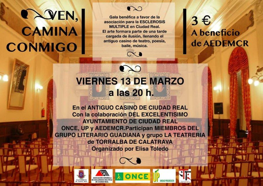 VEN, CAMINA CONMIGO          VIERNES 13 DE MARZO A LAS 20:00